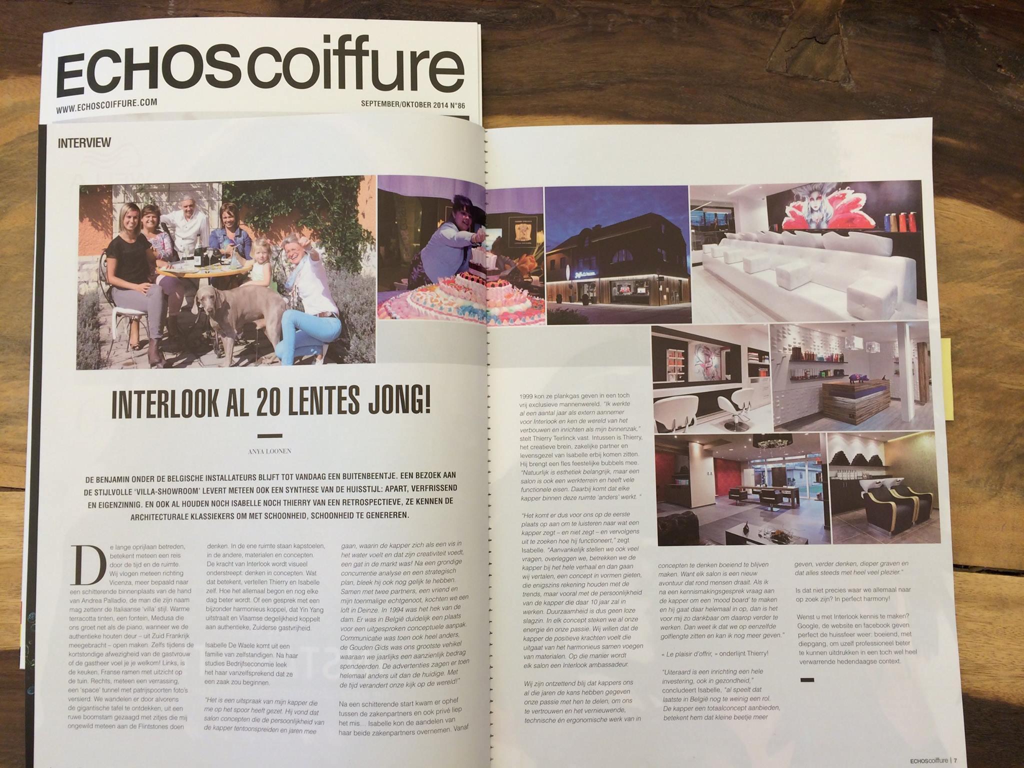 Echos Coiffure Dedicates To Pietranera Belgian Salons